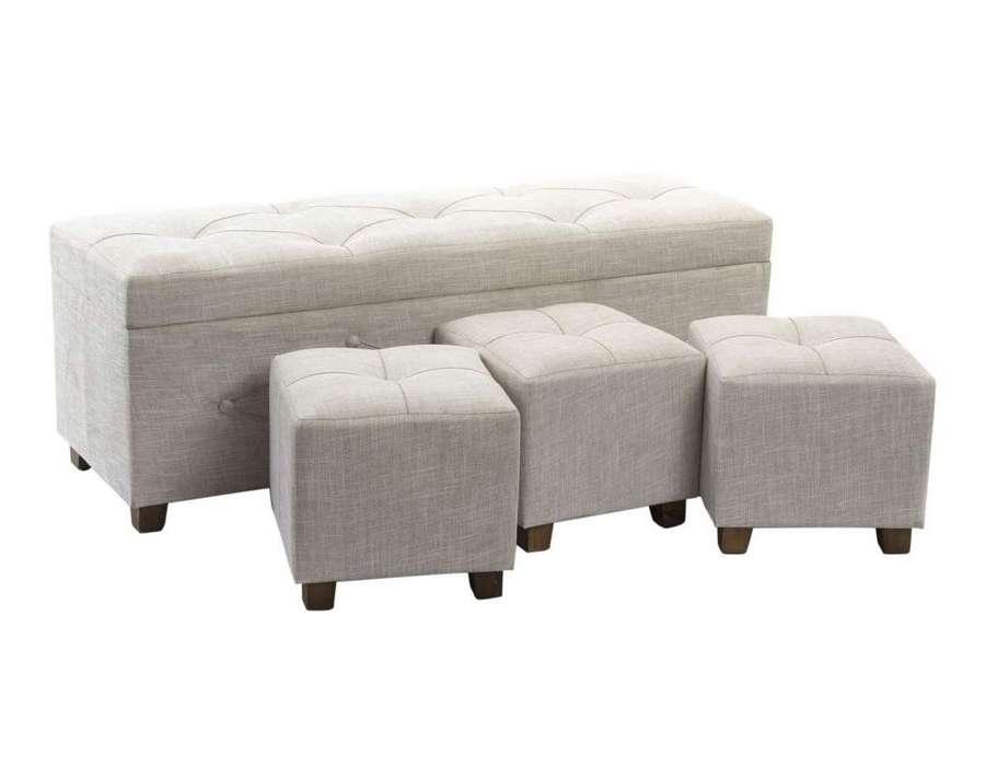 banquette coffre lin par 4 ou banquette pas cheres. Black Bedroom Furniture Sets. Home Design Ideas