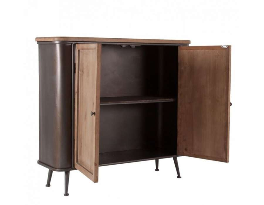 petit buffet industriel esprit vintage de la marque vical home. Black Bedroom Furniture Sets. Home Design Ideas