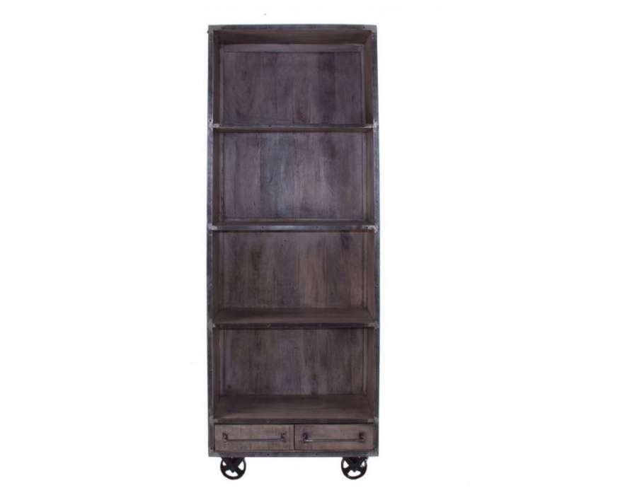 biiblioht que industrielle troite de vical home. Black Bedroom Furniture Sets. Home Design Ideas