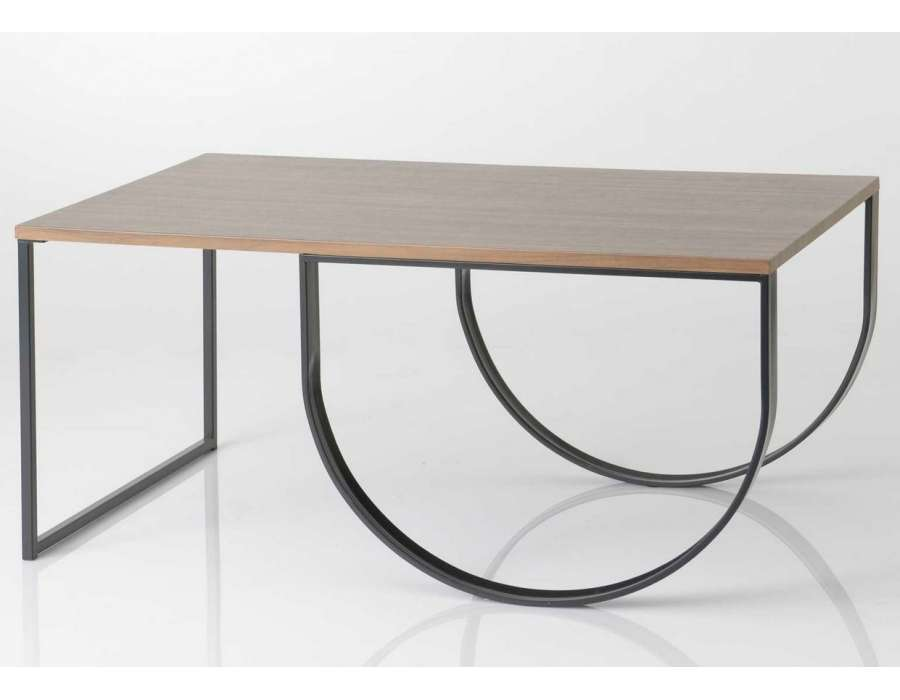 Table de salon m tal et bois design contemporain pas chere - Table basse design industriel ...