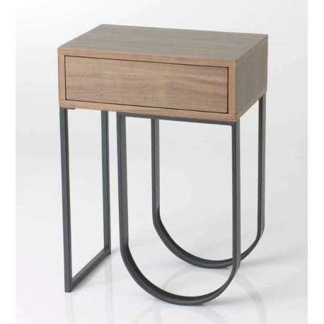 Table de nuit bois contemporain pas chere amadeus - Table de nuit pas chere ...