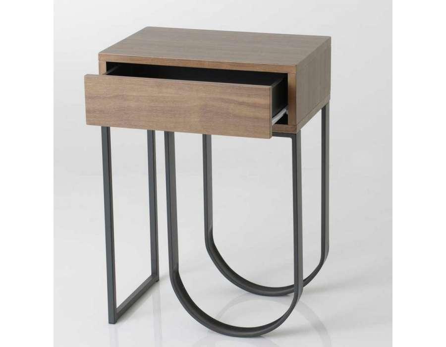 table de nuit bois contemporain pas chere amadeus