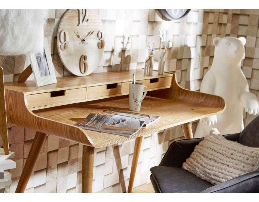 Bureau en bois moderne champagneconlinoise