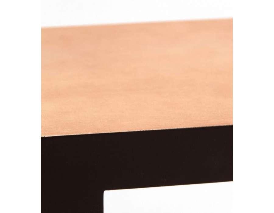 Chevet asiatique 3 tiroirs noir et doré