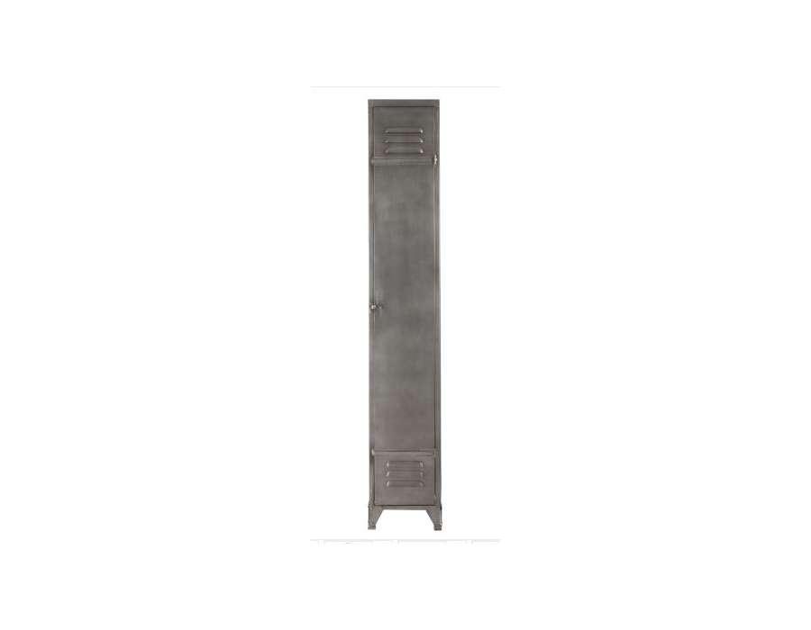 Armoire vestiaire métal gris Jolipa