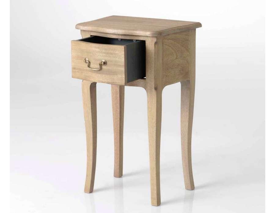 Table de nuit romantique bois massif pas chere amadeus - Table de nuit romantique ...