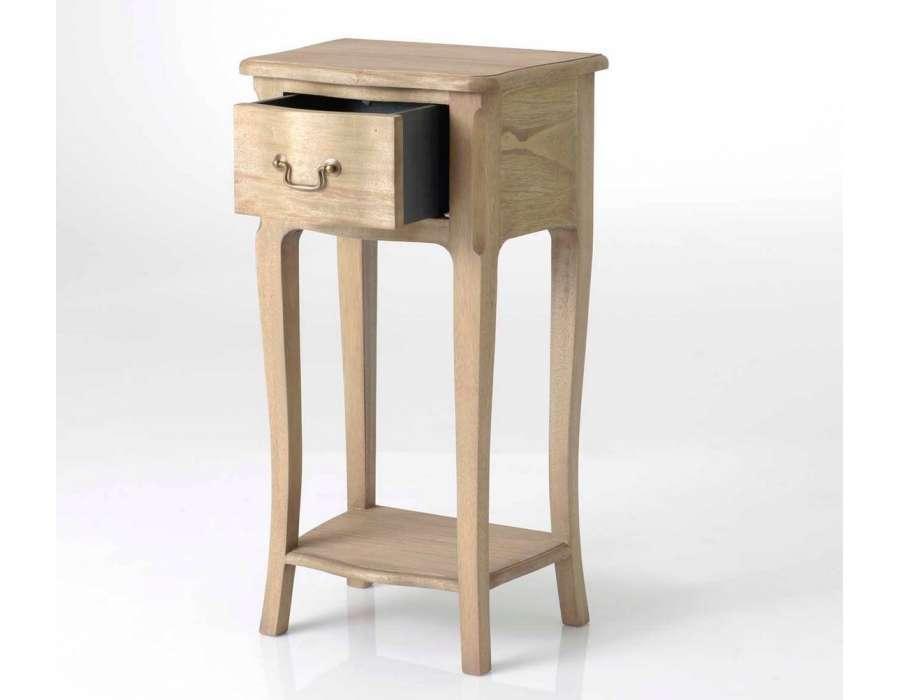 table de nuit haute bois massif pas chere amadeus. Black Bedroom Furniture Sets. Home Design Ideas
