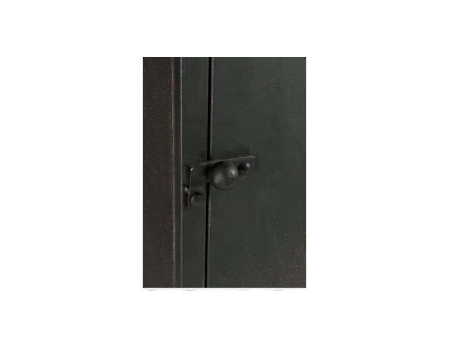 Vestiaire 3 portes en m tal gris fonc armoire - Armoire vestiaire metal 2 portes ...