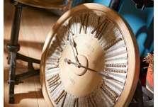 Horloge ronde zinc et corde