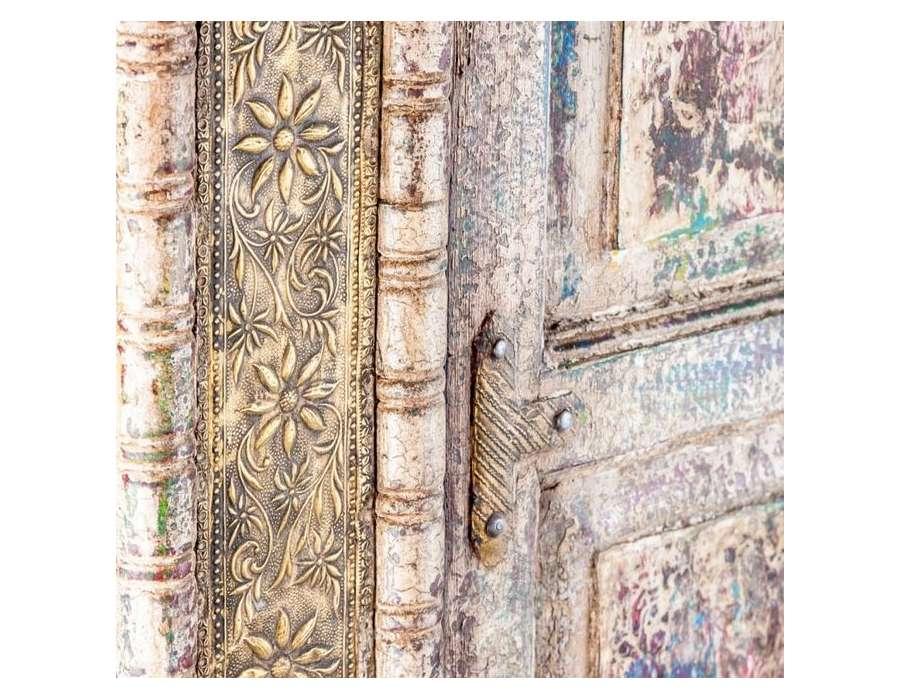 Armoire indienne 2 portes patinées