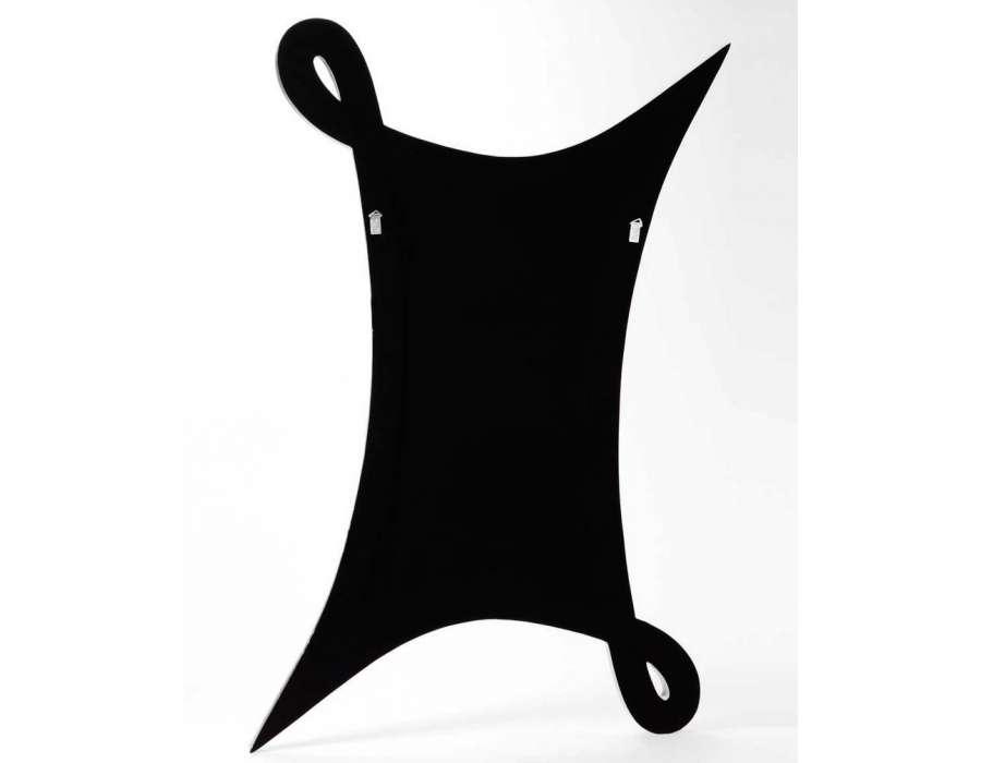 Miroir design noir mat de 90 cm amadeus for Miroir largeur 90 cm