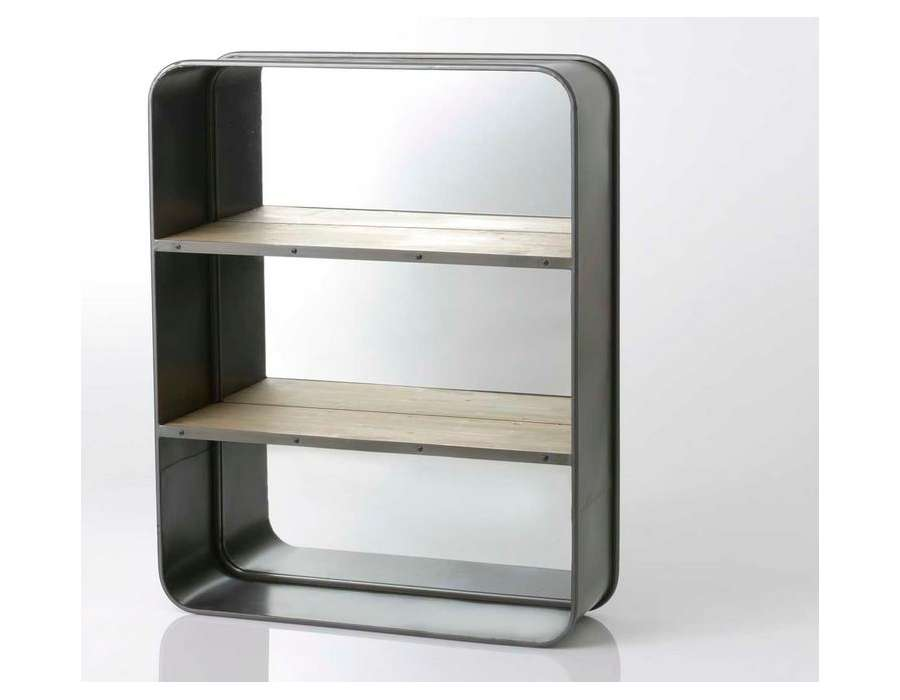 tag re industrielle murale fond miroir 2 niveaux. Black Bedroom Furniture Sets. Home Design Ideas