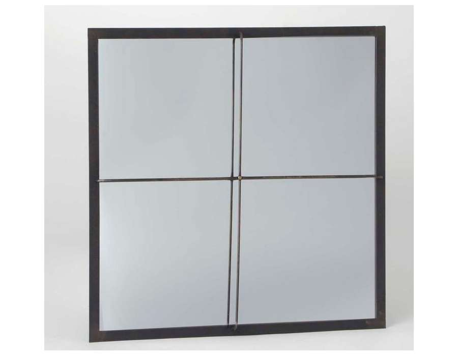 Miroir quadrillé carré chic Victor