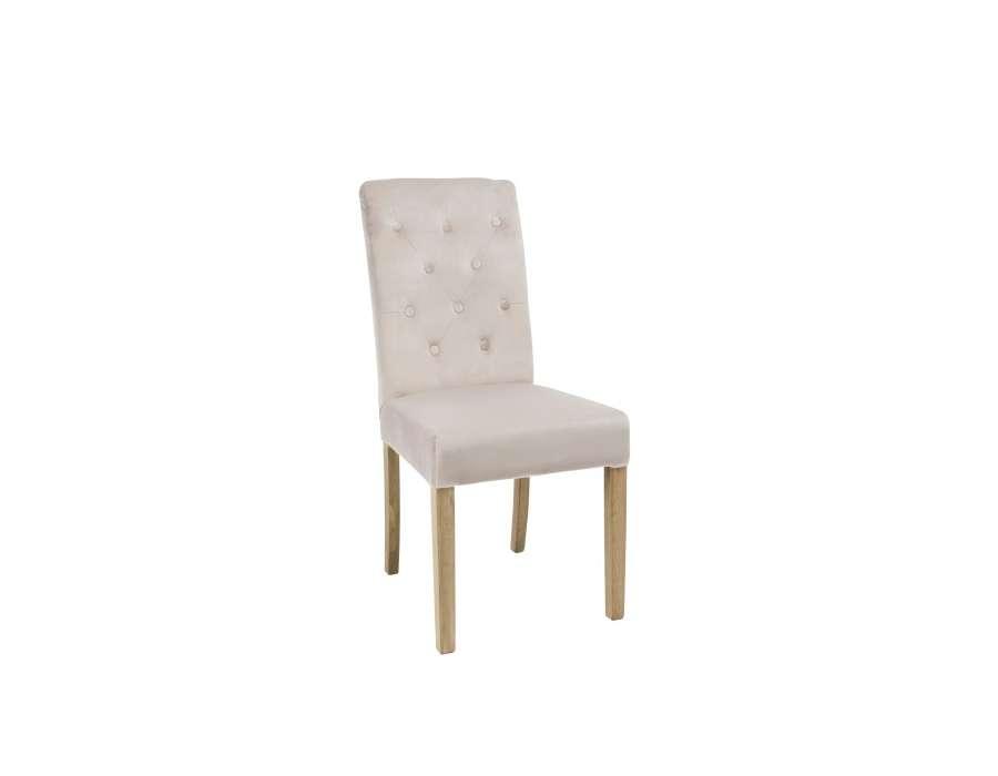 chaise capitonn e dossier haut ivoire. Black Bedroom Furniture Sets. Home Design Ideas