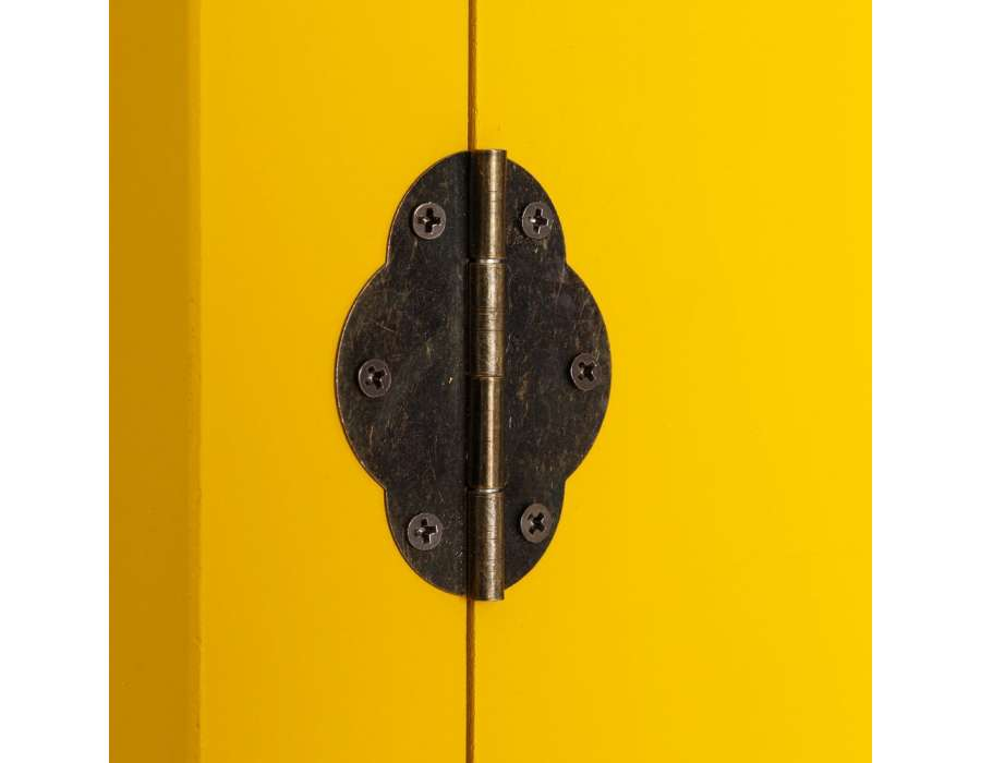 Console chinoise jaune 95 cm