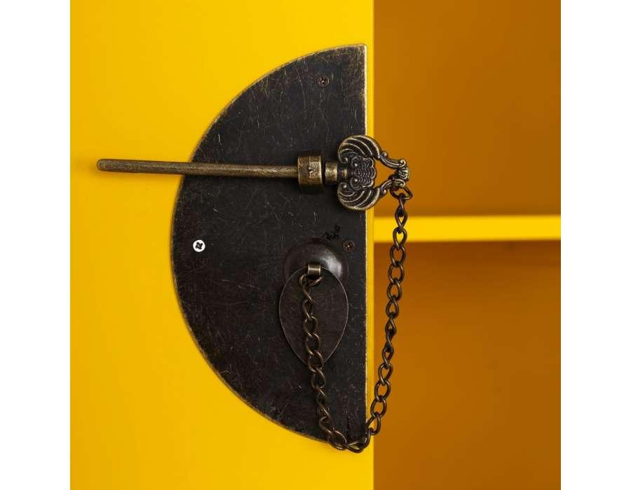 Petite console chinoise jaune 1 porte