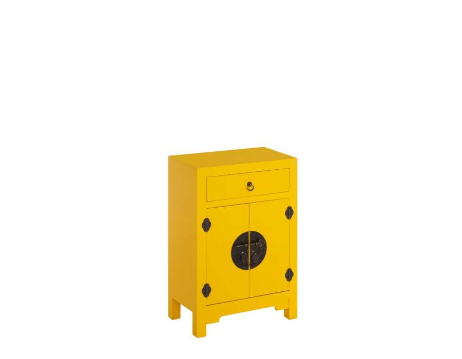 petit meuble de rangement chinois jaune meuble chinois. Black Bedroom Furniture Sets. Home Design Ideas