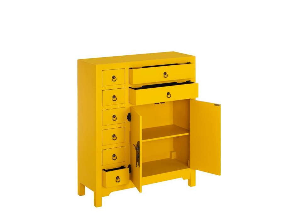 meuble buffet chinois jaune meuble chinois pas cher. Black Bedroom Furniture Sets. Home Design Ideas