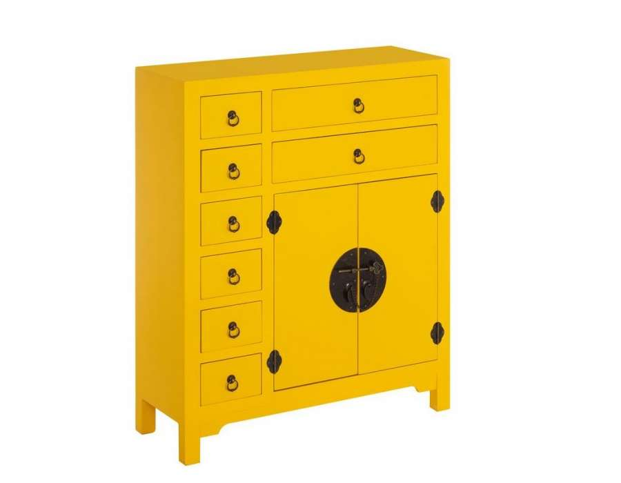 Meuble buffet chinois jaune meuble chinois pas cher for Meuble buffet chinois