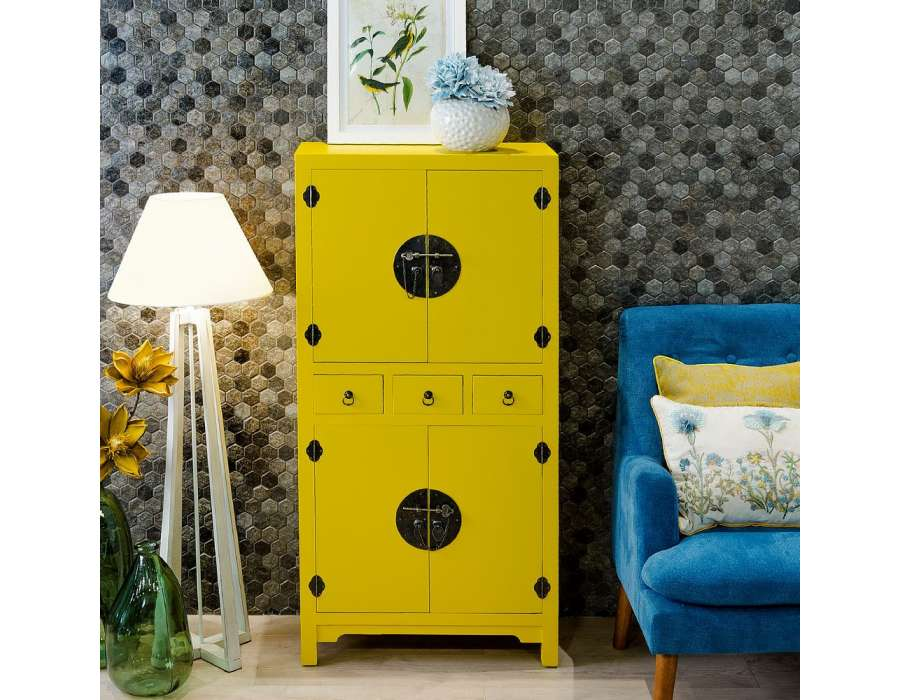 armoire jaune portes chine with armoire de mariage chinoise occasion. Black Bedroom Furniture Sets. Home Design Ideas