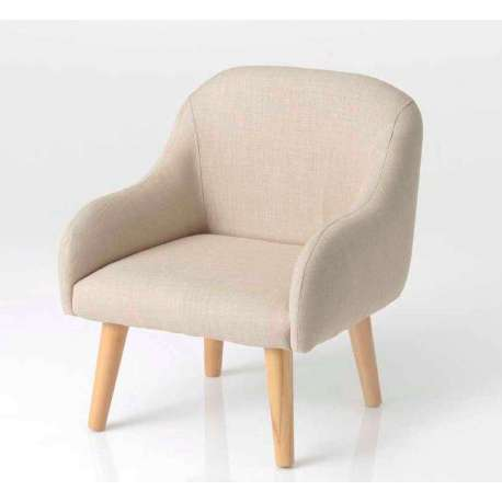 fauteuil enfant taupe clair style scandinave