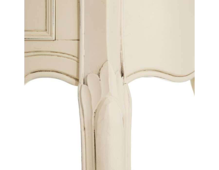 console demi lune galb e en bois plateau miel pas chere. Black Bedroom Furniture Sets. Home Design Ideas