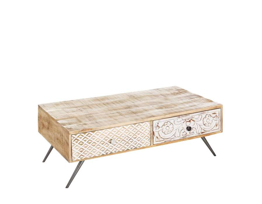 Table basse scandinave en bois c rus nordique for Table basse bois scandinave