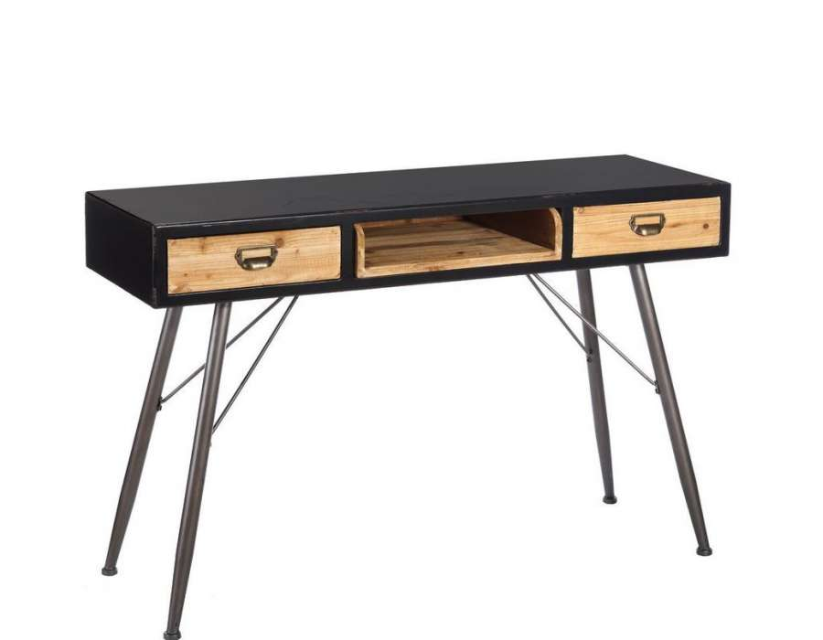 console vintage industriel avec niche. Black Bedroom Furniture Sets. Home Design Ideas