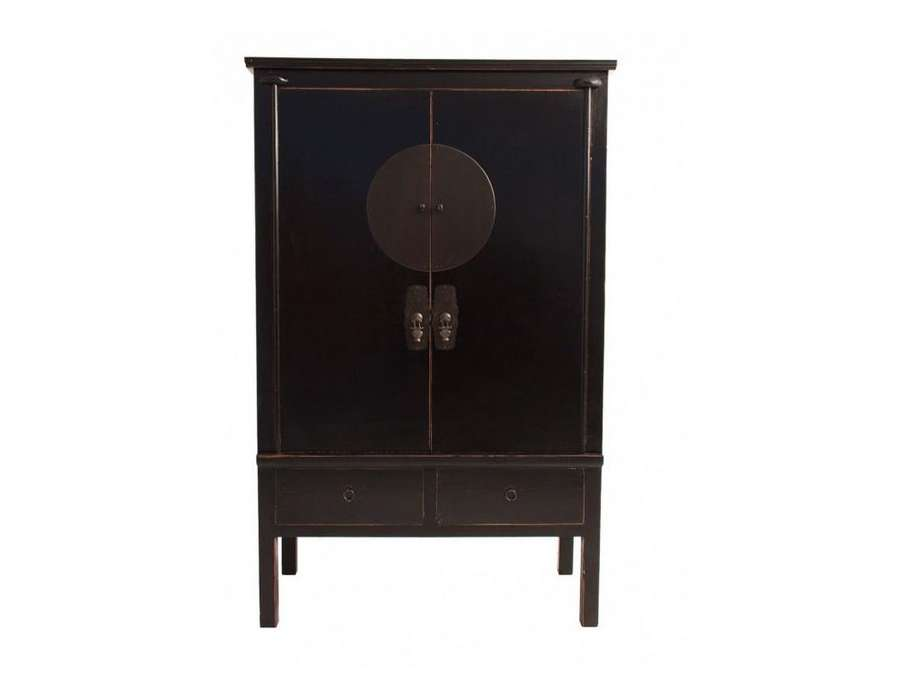 grande armoire chinoise noire vical home. Black Bedroom Furniture Sets. Home Design Ideas