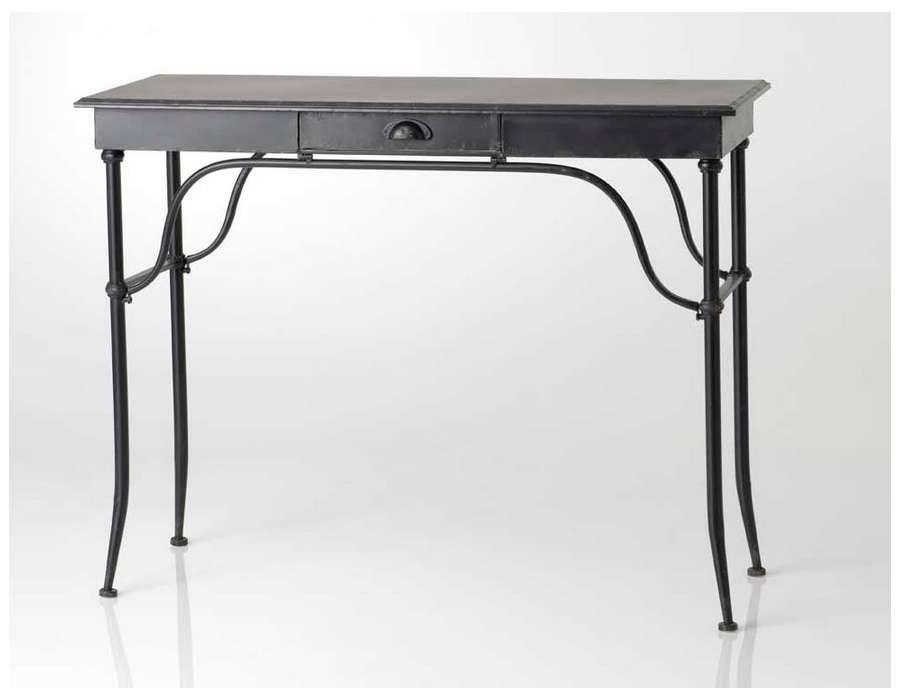 bureau metal noir conceptions de maison. Black Bedroom Furniture Sets. Home Design Ideas