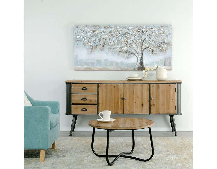 vaisselier bois metal best vaisselier portes bois massif crus with vaisselier bois metal with. Black Bedroom Furniture Sets. Home Design Ideas