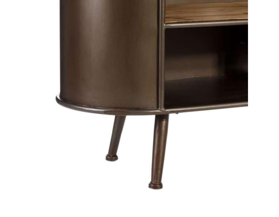 Meuble Tv vintage 149 cm en bois et métal industriel -> Meuble De Tele Retro