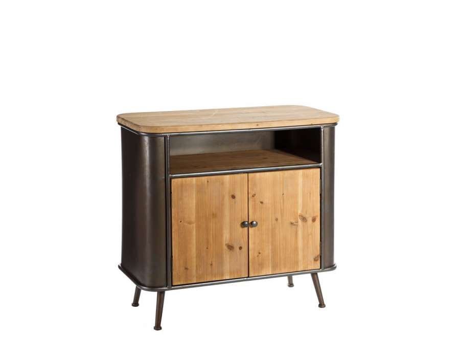 buffet metal et bois buffet bas bois et metal 49 id es d co de buffet et commode buffet. Black Bedroom Furniture Sets. Home Design Ideas