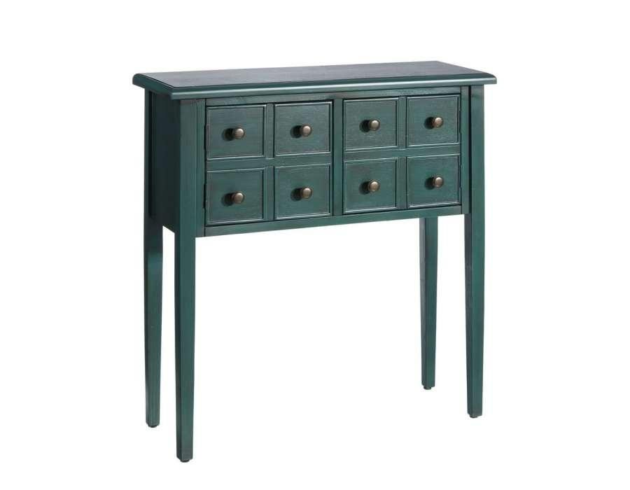 petite console droite verte pas chere. Black Bedroom Furniture Sets. Home Design Ideas