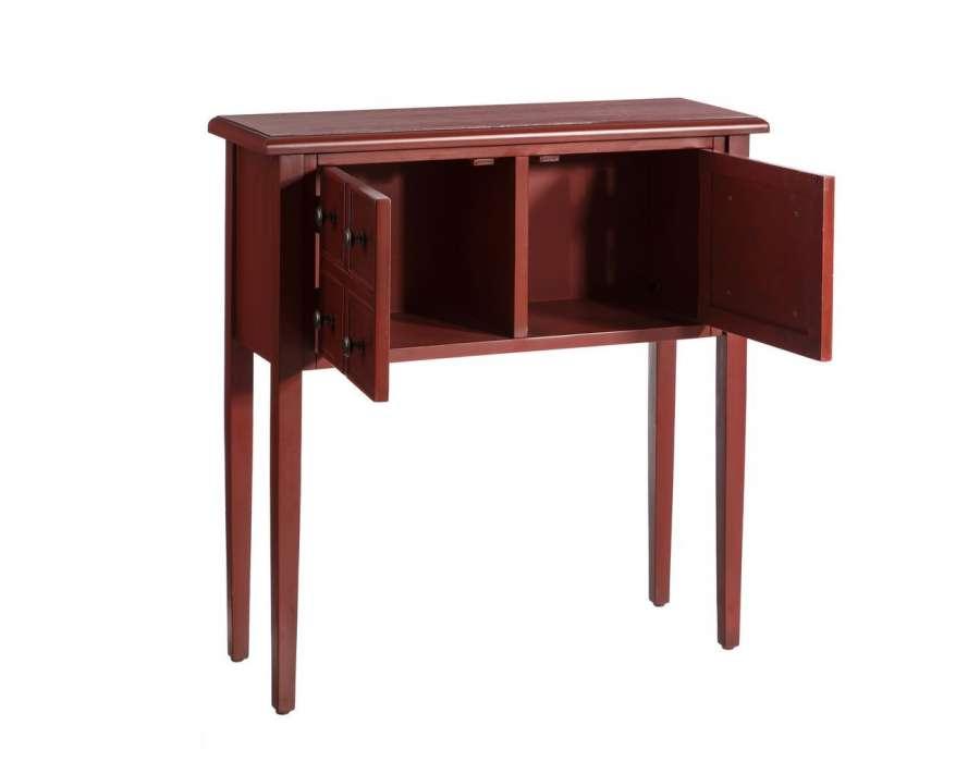 petite console droite rouge pas chere. Black Bedroom Furniture Sets. Home Design Ideas