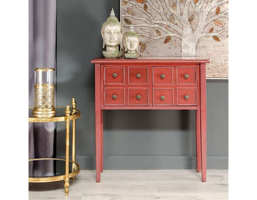 petite console droite rouge pas chere. Black Bedroom Furniture Sets. Home Design Ideas