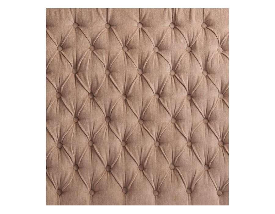 Tête de lit 160 cm beige taupe capitonnée Vical Home