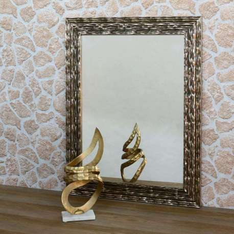 Accueil miroirs miroir bois dor 98 cm - Customiser un miroir en bois ...
