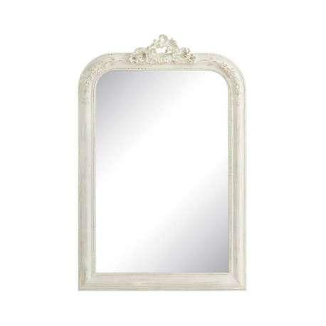 Accueil miroirs miroir romantique blanc patin d cor - Grand miroir rectangulaire pas cher ...