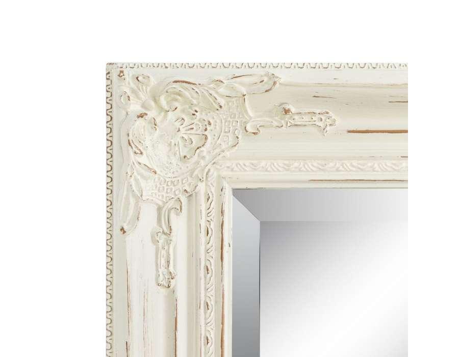 Miroir romantique blanc patin pas cher 104 cm for Miroir romantique