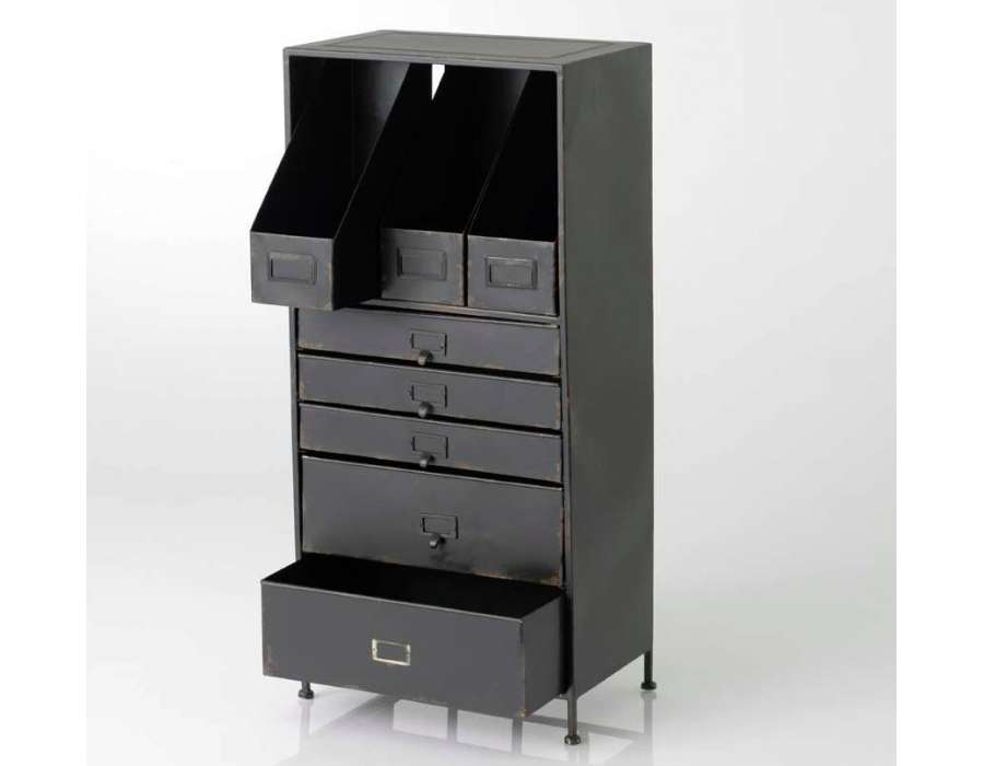 meuble atelier metal top original meuble tv industriel atelier en m tal et bois recycl with. Black Bedroom Furniture Sets. Home Design Ideas