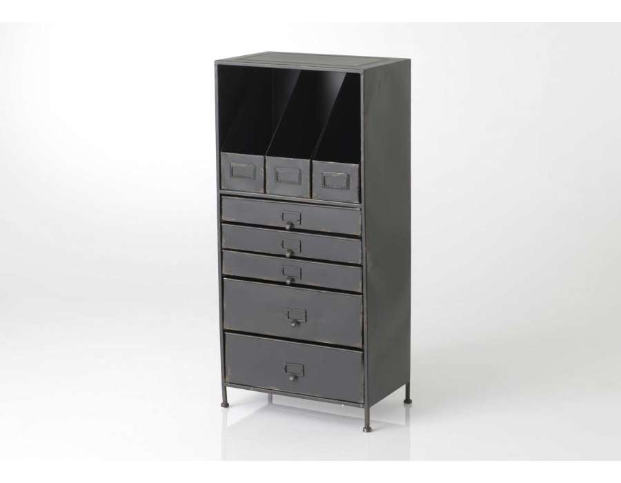 meuble rangement pour bureau industriel pas cher. Black Bedroom Furniture Sets. Home Design Ideas