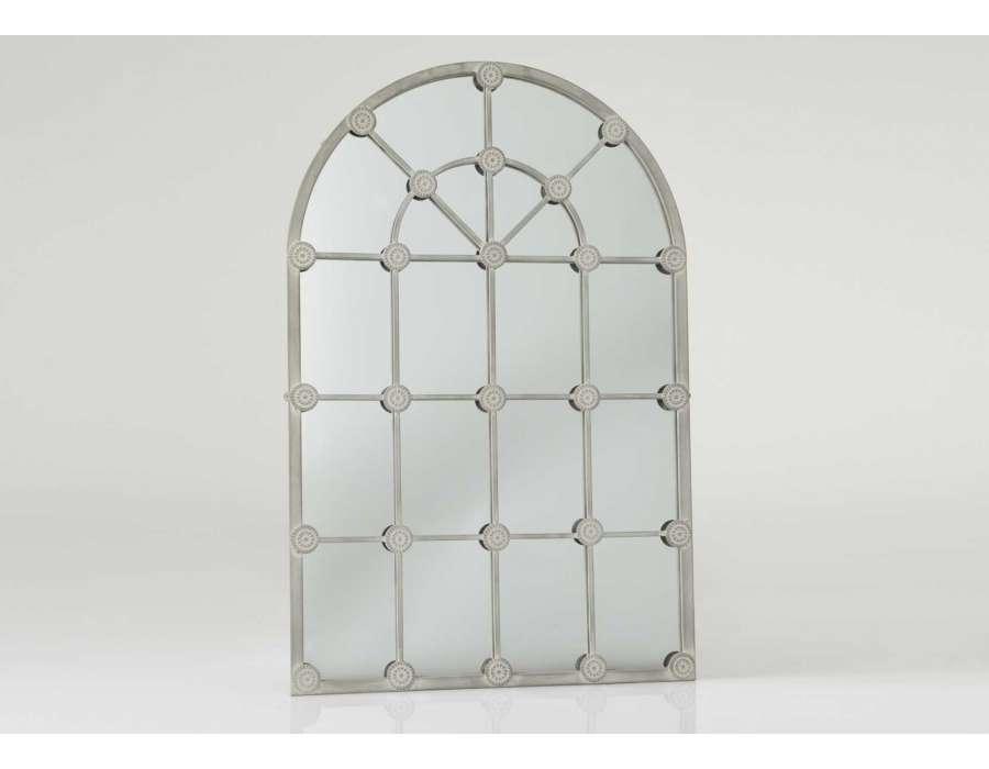 Miroir quadrill m tal gris 1 m grande demeure amadeus for Miroir grande demeure