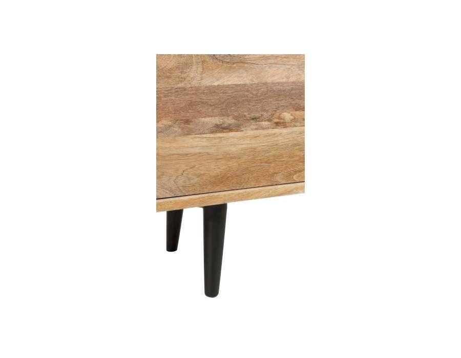 Meuble de t l retro bois naturel jolipa for Meuble en bois de manguier