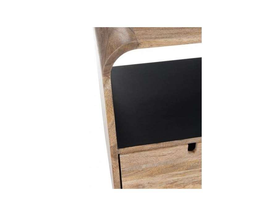 console entr e 100 cm design retro scandinave bois. Black Bedroom Furniture Sets. Home Design Ideas