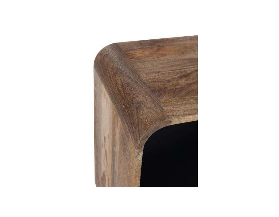 Console bois de manguier rétro