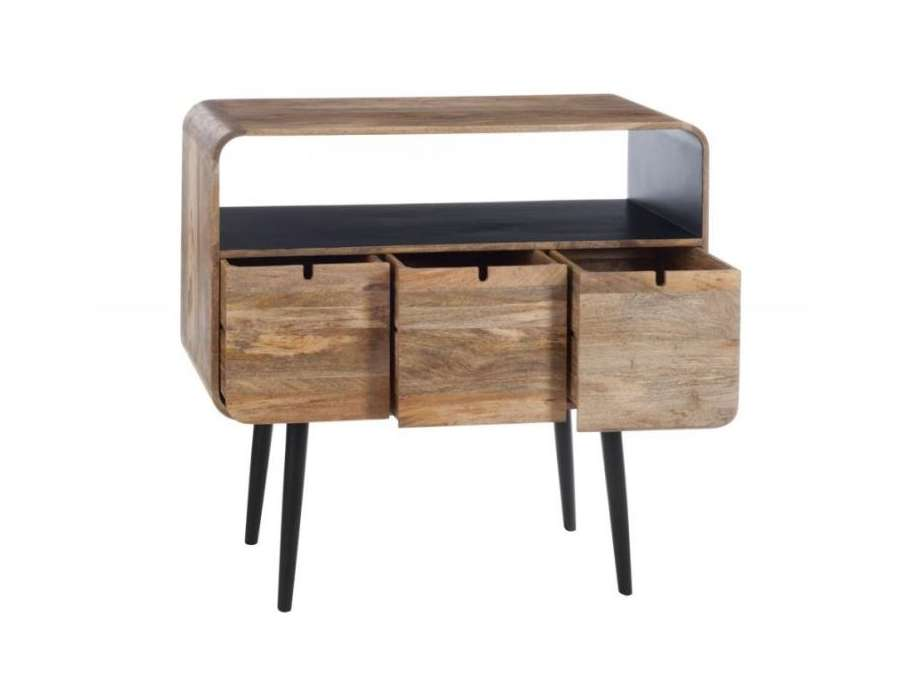 console entr e 100 cm design retro scandinave bois. Black Bedroom Furniture Sets. Home Design Ideas