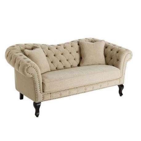 canap baroque 2 places lin beige de qualit. Black Bedroom Furniture Sets. Home Design Ideas