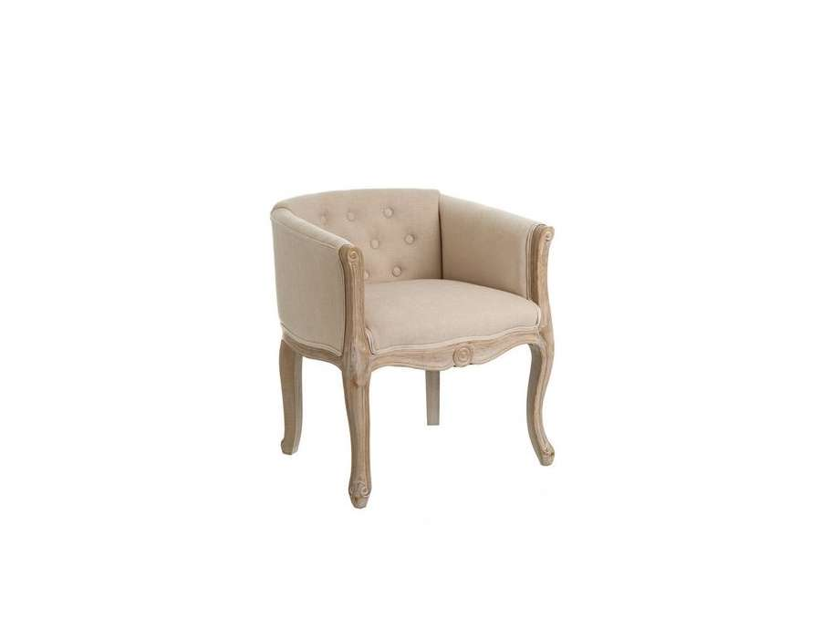 fauteuil cabriolet lin carr chic amadeus. Black Bedroom Furniture Sets. Home Design Ideas
