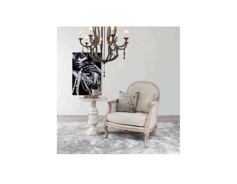 fauteuil berg re ch ne beige de qualit. Black Bedroom Furniture Sets. Home Design Ideas